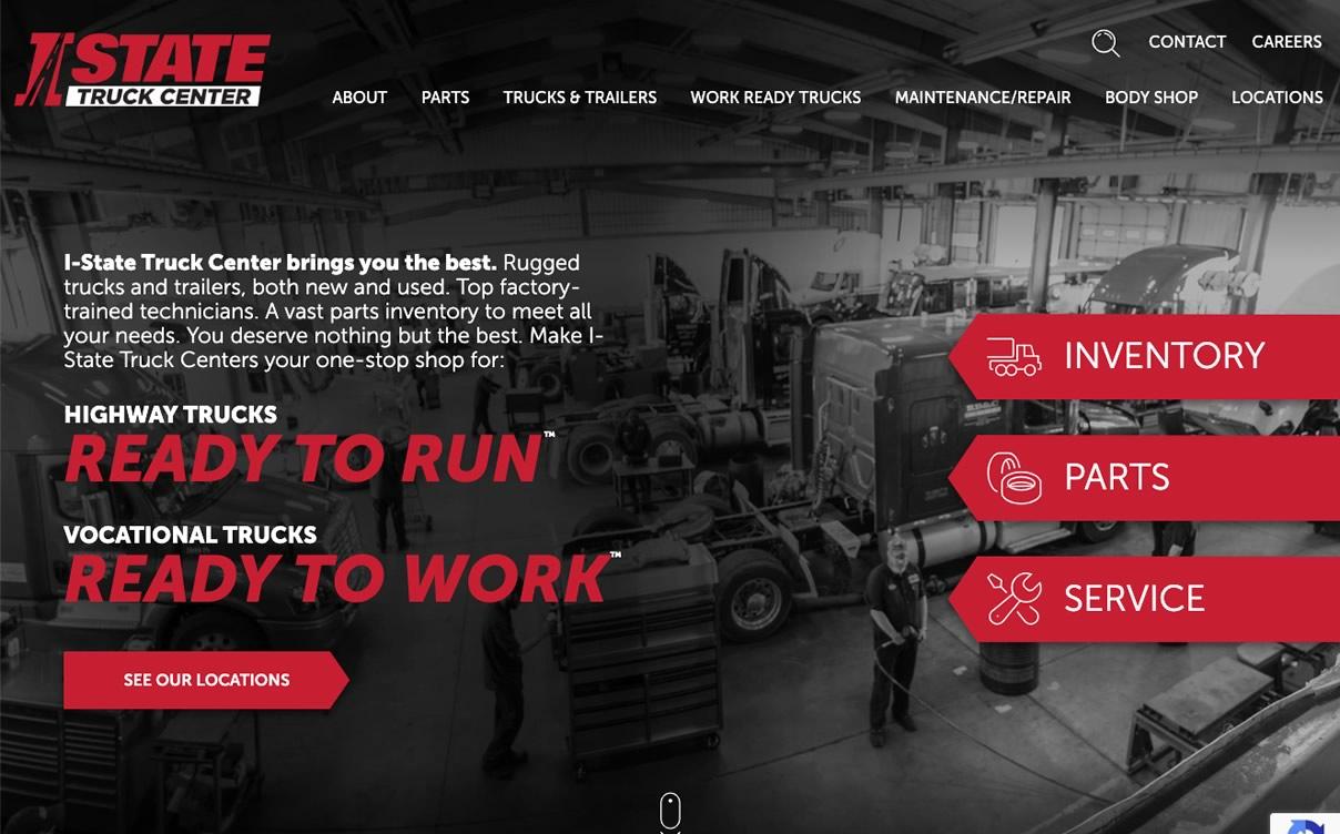 I-State Truck Center - Website by Okasoft Design