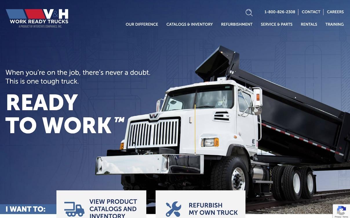 V&H Trucks website by Okasoft Design